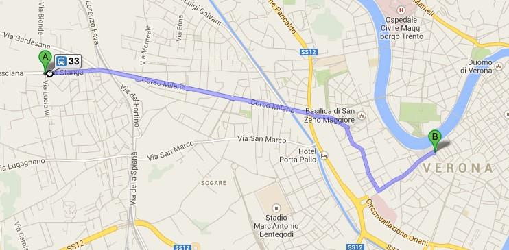 come raggiungerci euromotel verona bus 33
